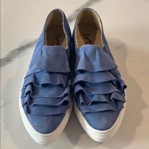 Shoes - Anthropologie quake sneaker blue suede